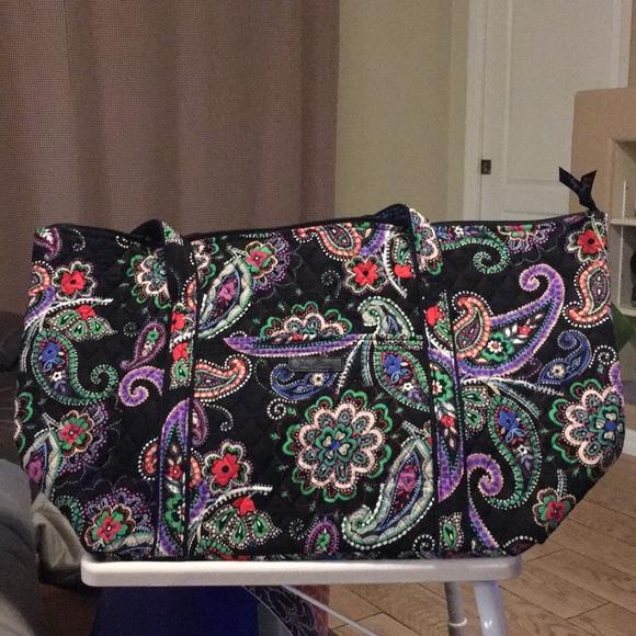 NEW Vera Bradley Miller Travel Bag Kiev Paisley ee773e18bdba5